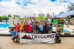 Group shot of the Competitor, Staff and Judges. Royalty Free Stock Photography
