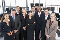 Group Shot Of Stock Traders Stock Photo