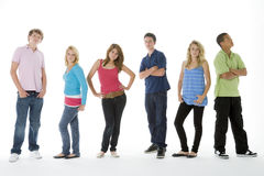 Group Shot Of Teenagers. On A White Background Stock Image