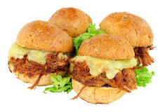 Group Of Shredded Beef Sandwich Sliders Royalty Free Stock Photo