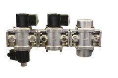 The group shut-off valves and a filter to control of a gas stream Stock Images