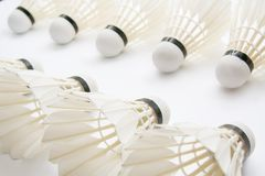 Group of shuttlecocks Stock Photography