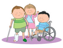 Group of sick kids Stock Images