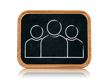 Group sign. 3d blackboard banner with chalk group sign Stock Photo