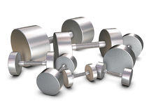 Group of silver weights Stock Images