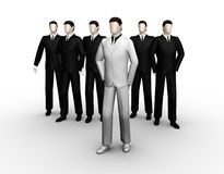 The group of six businessman Stock Photo