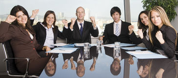 Group of six businesspeople Royalty Free Stock Image