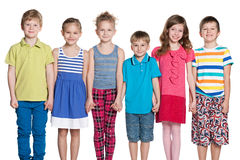 Group of six happy children Royalty Free Stock Photo
