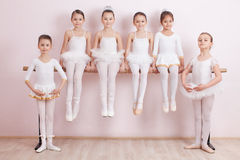 Group of six little ballerinas Stock Photography