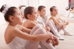 Group of six little ballerinas Stock Image