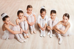 Group of six little ballerinas Royalty Free Stock Image