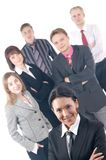 A group of six young business people Royalty Free Stock Images