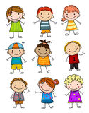Group of sketch kids Stock Photo