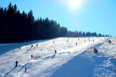 Group of skiers Stock Image