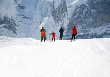 Group of skiers Royalty Free Stock Photo