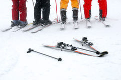 Group of the skiers Royalty Free Stock Photography