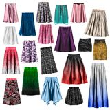 Group of skirts isolated royalty free stock photos