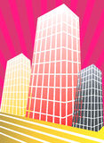 Group of sky scrappers  Stock Image