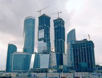 Group of skyscrapers Royalty Free Stock Images