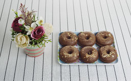 Group of small donuts Stock Photos