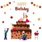 Vector Birthday Cake royalty free illustration