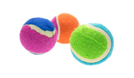 Group of small rubber and cloth fetch balls for dogs Stock Photography