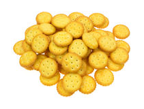 Group of small snack crackers Stock Images