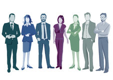 Group of smart business people vector illustration