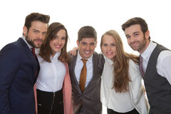 Group of smart happy business people Stock Photography
