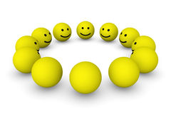 Group of smiley balls Royalty Free Stock Photo