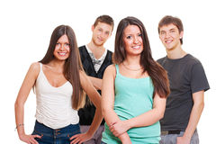 Group of smiley teenagers Stock Images