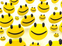 Group of smileys Stock Photo