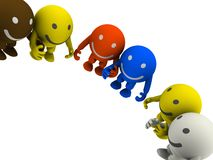 Group of smileys Royalty Free Stock Photo