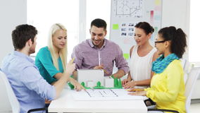 Group of smiling architects working in office Royalty Free Stock Photography