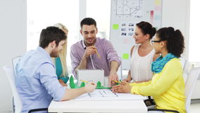 Group of smiling architects working in office Royalty Free Stock Photos