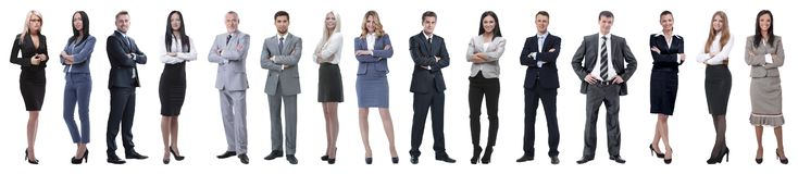 Young attractive business people - the elite business team royalty free stock image