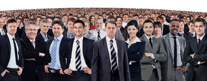 Group of smiling business people. Businessman and woman team. Stock Image