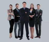 Group of smiling business people. Isolated over white background Stock Images