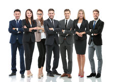 Group of smiling business people. Isolated over white background Royalty Free Stock Photo