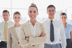 Group of smiling business team standing together Royalty Free Stock Photo