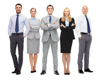 Group of smiling businessmen Royalty Free Stock Image
