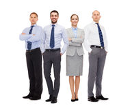 Group of smiling businessmen over white background Royalty Free Stock Photography