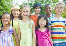 Group of Smiling Children. Group of happy, smiling children royalty free stock images