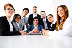 Group of a smiling colleagues Stock Photos