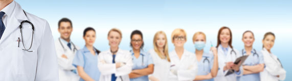 Group of smiling doctors Stock Photos