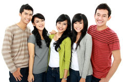 Group of smiling friends Stock Photo