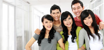 Group of smiling friends Stock Images