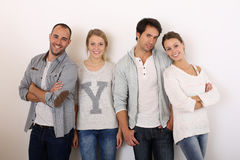 Group of smiling friends isolated Royalty Free Stock Images