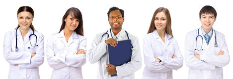Group of smiling hospital Royalty Free Stock Image
