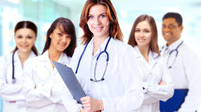 Group of smiling hospital colleagues Stock Image